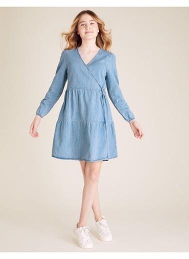 Marks & Spencer Denim Elbise Mavi